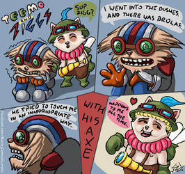 League of Legends: Teemo and Ziggs by Com2odo