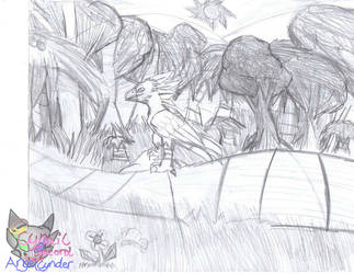 Kawcaw walk in the forest Sketched by AngelCnderDream14