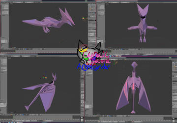 Dragonmodelatwork2 by AngelCnderDream14