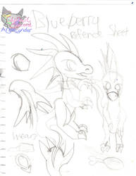 Blueberry Refence sheet by AngelCnderDream14