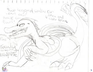 Jawspine Crawly feature plans sketch by AngelCnderDream14