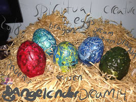 Spiritual Eggs hand made creature eggs! Etsy shop by AngelCnderDream14