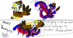 Thanksgiving Angel and Cnder Turkey moment by AngelCnderDream14