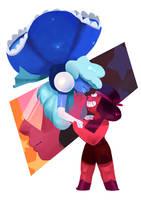 Ruby and Sapphire by CaroWaro