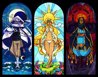 Gods by mopomoko