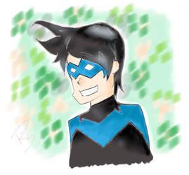 Nightwing smile by Ren-o27