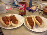 Chili dogs yum by TheHylianHaunter