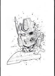 sketch zombie optimus prime by cliff-rathburn