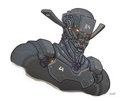 Robot Head by cliff-rathburn