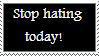 Stop Hate Stamp by manknux5667