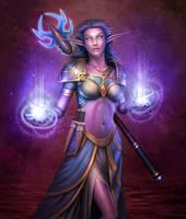 Warcraft Priestess by PRDart