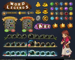 Word Legends Art Assets by PRDart