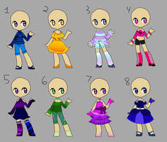Adoptable Clothes (Open) by Weetdevil115