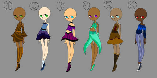 Adoptable Dresses (Open) by Weetdevil115