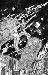 GALACTUS VS THE SURFER by COUNTPAGAN