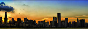 Chicago Sunset by paulsaini