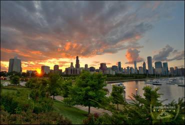 Chicago Dusk IV by paulsaini