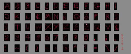 The alphabet by skrzymek
