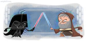 Vader vs Obi-Wan by xanderthurteen