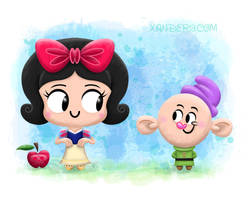 Snow White and Dopey by xanderthurteen