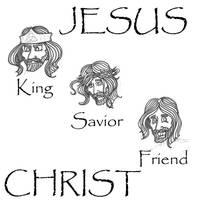 Jesus Sketches by beefcoat