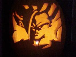 Gohan pumpkin carving by Rider4Z