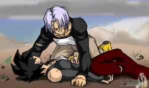 IV:V - Trunks protects Celari by Rider4Z
