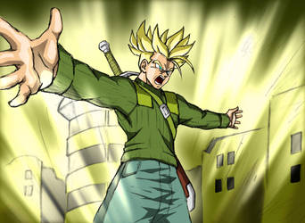 Dragonball Super - Trunks Final Flash by Rider4Z