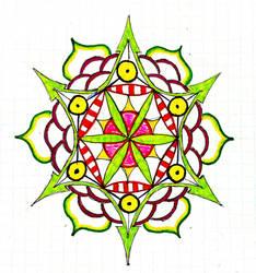 colorful mandala by rizyumnikov