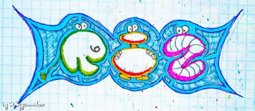 RIZ letters recolored by rizyumnikov