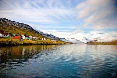 Faroe fjord by rizyumnikov