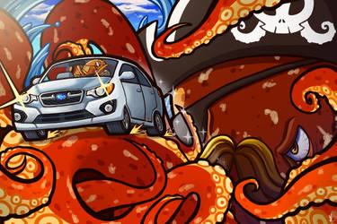 Subaru Impreza- The Escape by Mikochi