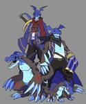 Digimon Oc - Vizamon Evolution Line by ginryuumaru