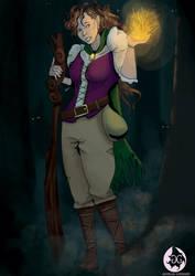 [G] Kaiarys the half-elf sorcerer by Dragriyu