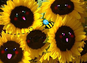 sunflowers by KitsuneShinzui