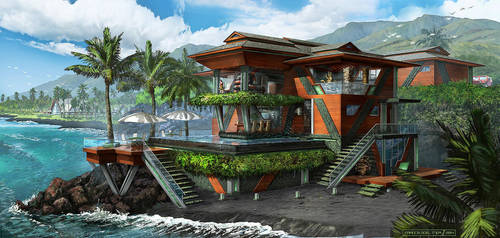 Dr. Draxler's Maui Beach House by FranzowaR