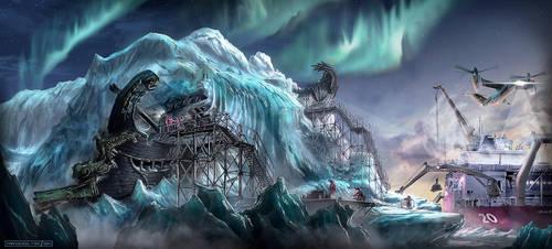 The Frozen Quinquereme by FranzowaR