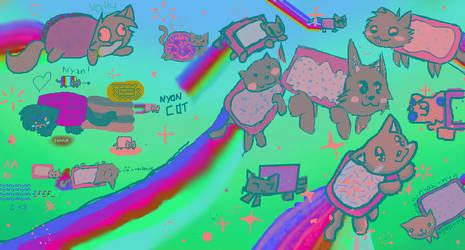 Nyan Cat Madness by valgal3000