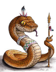 Snake warrior by IsidorSwande