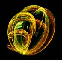 Green-orange fire ripples by MD-Arts
