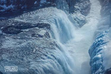 Gullfoss in Winter by MD-Arts