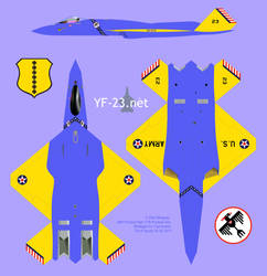 Northrop F-23A USAAF concept by supacruze