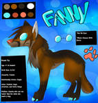 Fanny's Reference Sheet by BipolarWolfy