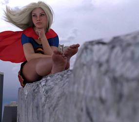 Supergirl ponders by restif