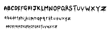 tiny drippy pixel font by ro-butts