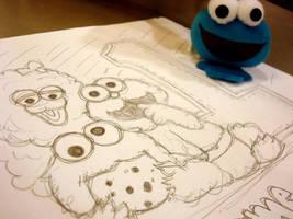 cookie monster by vikiyap