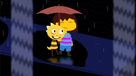 A walk in the rain by Roler42