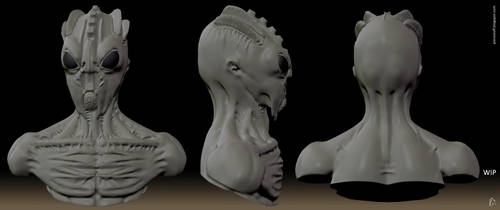 Alien bust prototype row by PieroStuff
