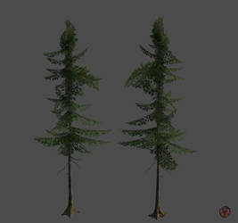 low-poly Spruce v.1 by PieroStuff