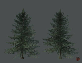 low-poly Spruce v.2 by PieroStuff